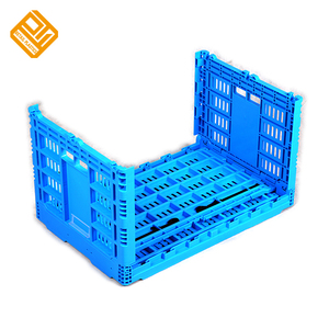PP material stackable Foldable collapsible plastic tomato crates and vegetable crates