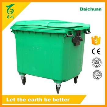 Wholesale Hdpe Plastic Waste Containers 1100L Large Recycling ...