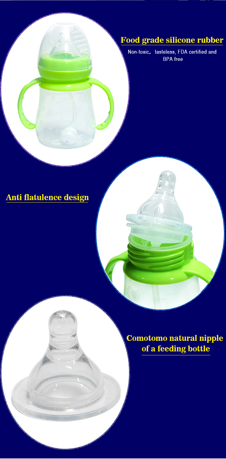 Custom Baby Feeding Bottle BPA-Free Silicone Thermos Baby Milk Bottle