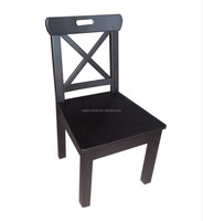 Solid Wood Dark Color Cross Back dining chair