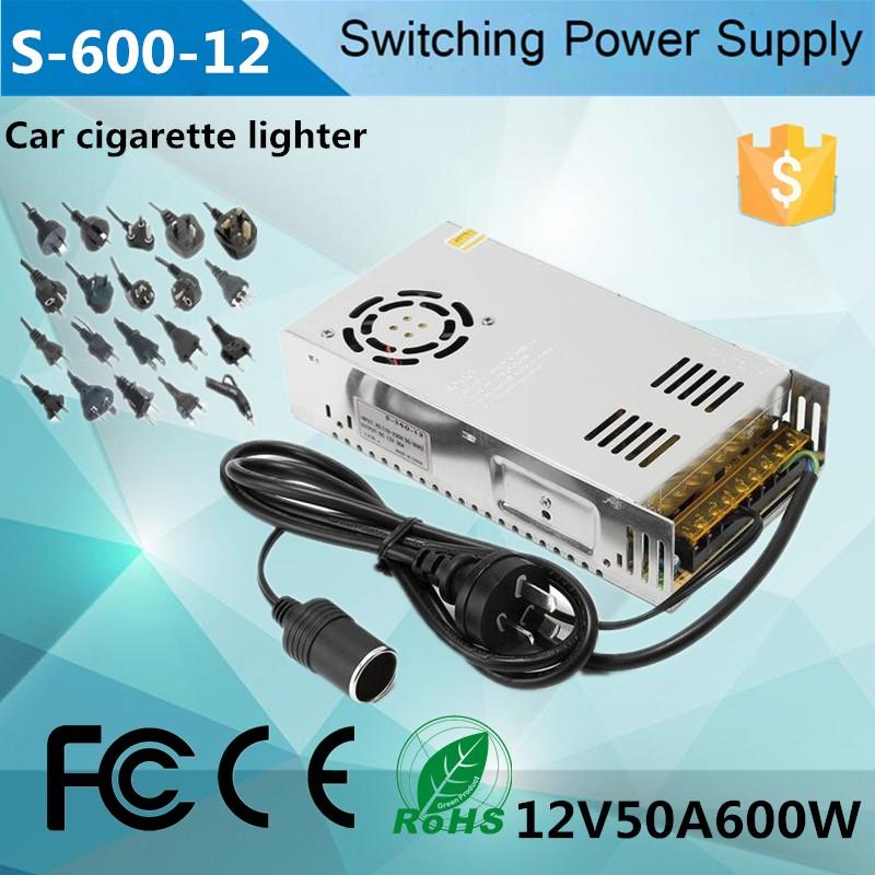 12v Dc Cigarette Lighter Car Adapter 12v 50a Ac Dc Adapter With ...