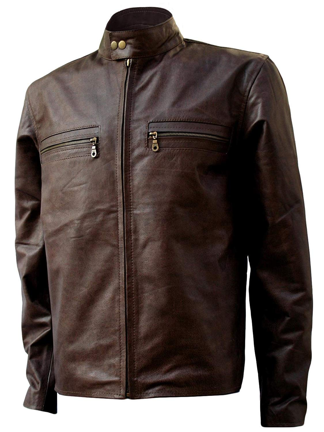 Xport Designs Real Leather 3XL Tom Cruise Distressed Leather Jacket