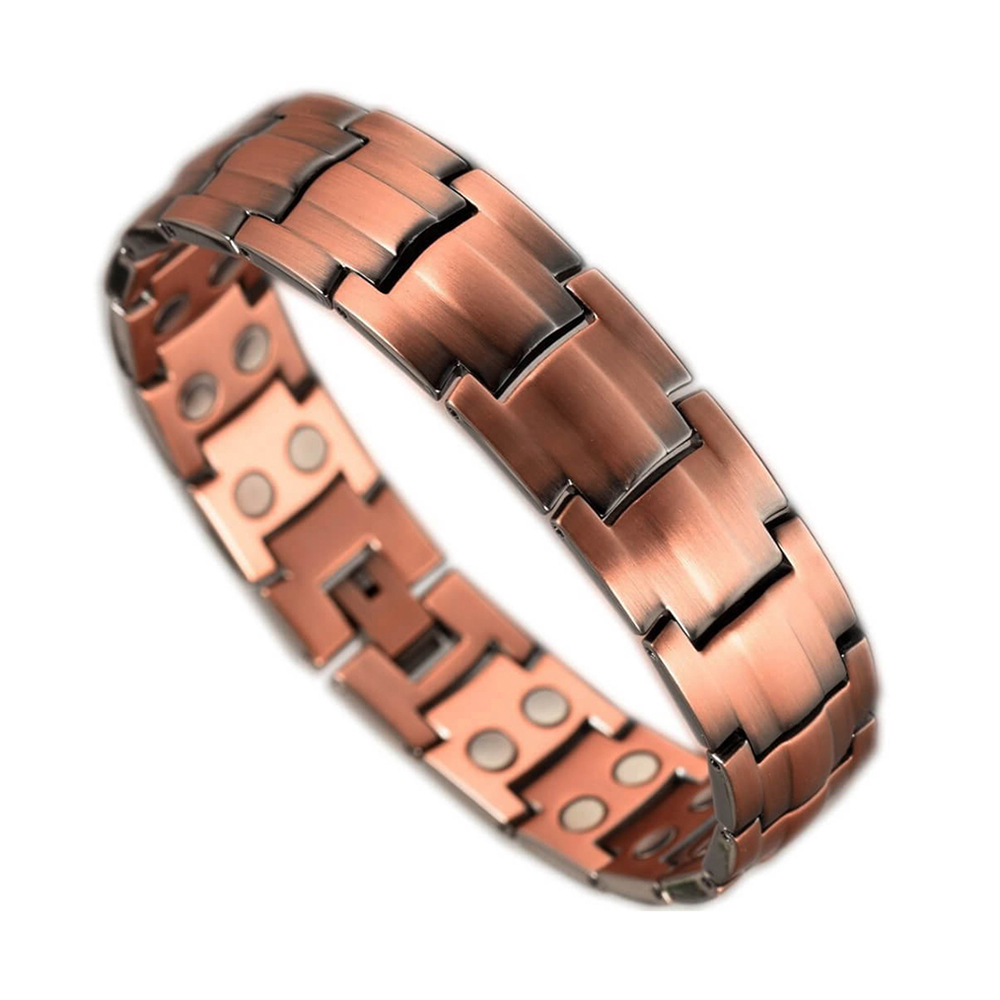 Bio Health Magnetic Therapy Pure Copper Bracelet With Double Magnets