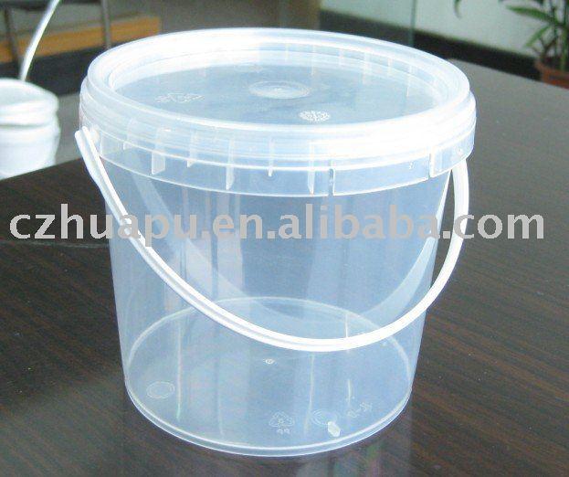 1 Litros De Pl 225 Stico Transparente Transparente Cubo Cubo