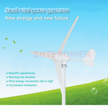AC 48V 500W windmill Three Phase AC generator 3 blades Wind Turbines Small home system use 48V Rated voltage