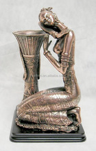 pewter alloy loving girl figurines,zinc alloy figures pen holders