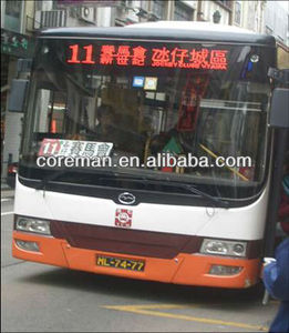 alibaba email address wireless 12v~24v battery support advertising bus sign / bus led moving sign