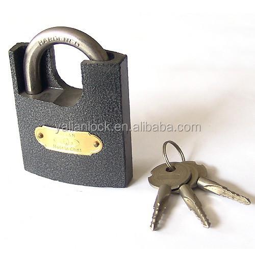 Cheap Arc Padlock Plastic Painted Shackle Protected Cross Key ...