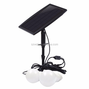 New Style Solar Home Lighting System Easy Using Home solar lighting system with 3 LED lamp 5V USB soar panel For Indoor Use