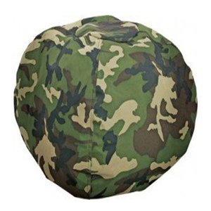 Comfy Camouflage canvas fabric stuffed animal storage bean bag chair