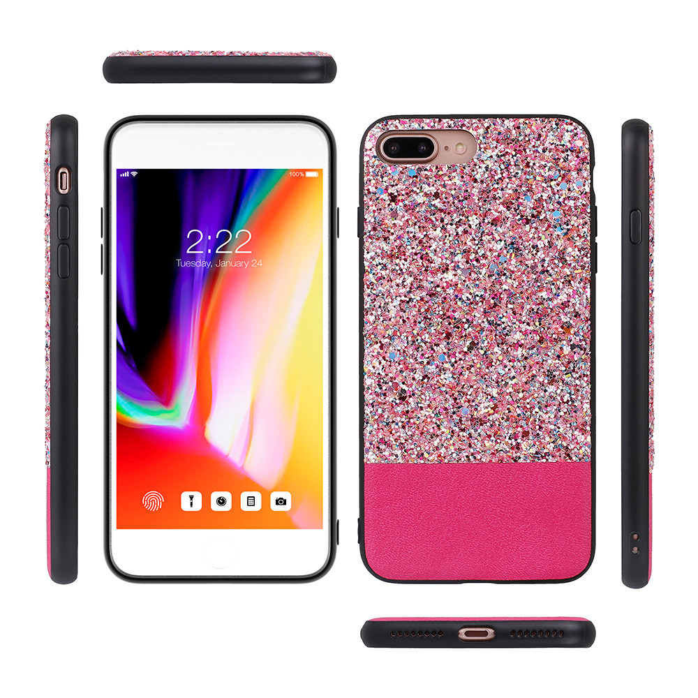Guangzhou phone case latest popular glimmer Rhinestone Diamond mobile phone back case skins for Samsung J7 plus