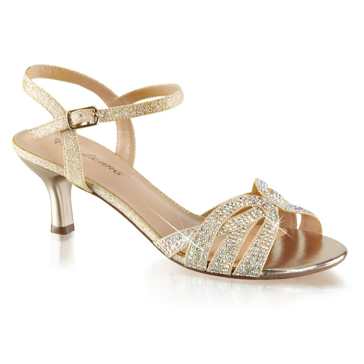 a2ca9882f0 Get Quotations · Summitfashions Womens Kitten Heel Sandals Sparkly Nude  Shoes Silver Rhinestone 2 1/2 inch Heel
