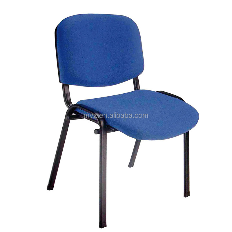modern meeting colorful chair staff office with stainless steel and fabric