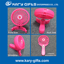 Creative fold-able electric battery operated handheld usb mini LED fan