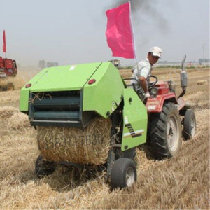 Farm used hay and straw baler machine Hydraulic mini haulm press packing baler machine for sale