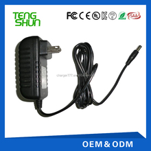 Intercambiáveis plug power adapter 12 v 1.5a 3a UL CE FCC TUV