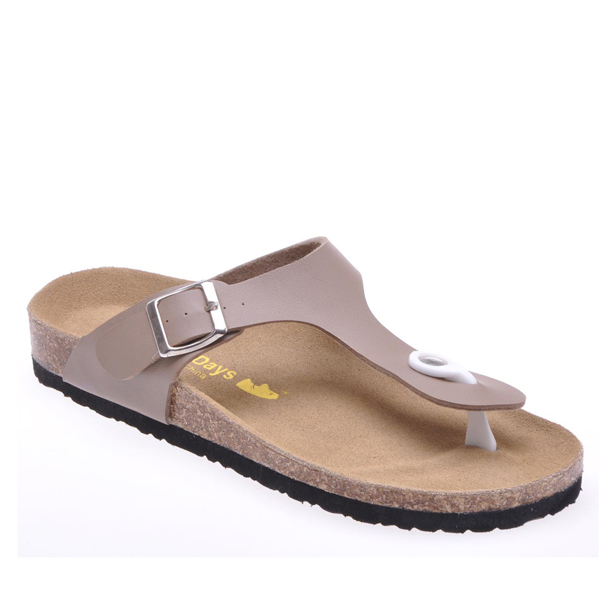 d6f2d37ec6b0 New Summer Beach Cork Slippers Casual Women Solid Buckle Pu Leather Clogs  Slides Slip On Shoe