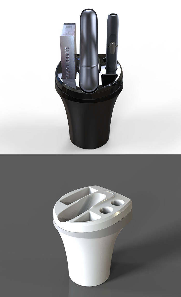 Top selling products ashtray charger charging cup for use with IQOS 3.0