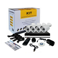 4CH AHD CCTV DVR Cheap Home Surveillance Security System,4 Pcs Outdoor Indoor Cctv Camera kit