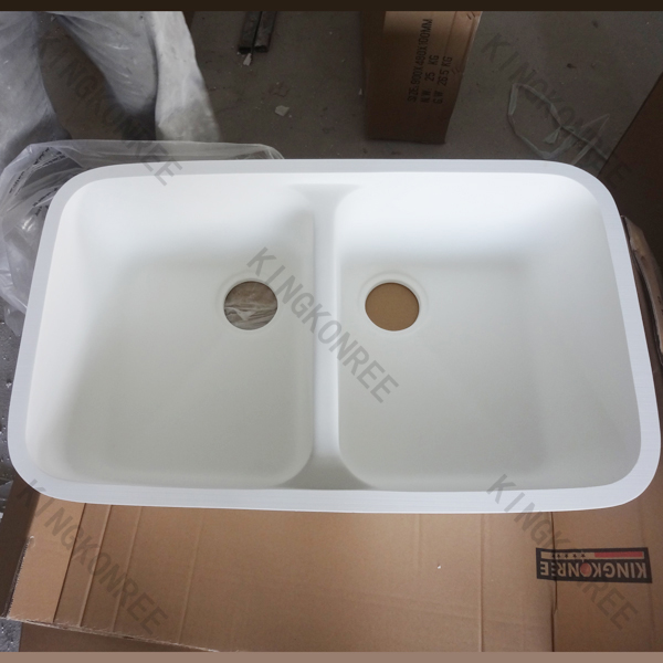 Acrylic Resin Double Sink/kitchen Ware Undermount Sink