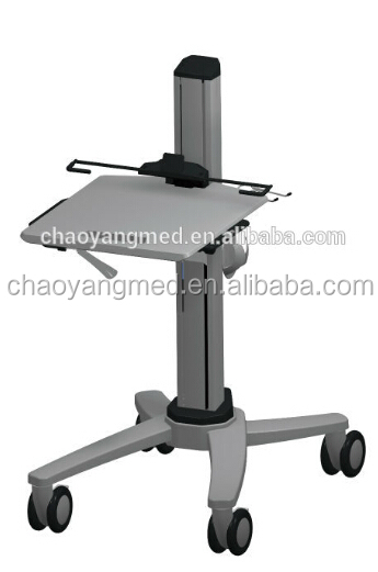 medical cart workstation cart with wheels used in patient areas mobile computer cart cy d400n2. Black Bedroom Furniture Sets. Home Design Ideas