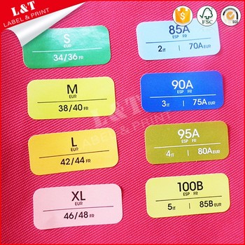 Guangzhou self adhesive apparel labels shoe label