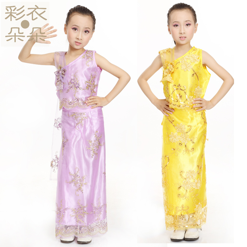 Get Quotations · Yunnan Dai childrenu0027s clothing Thailand exquisite ribbon lace Dai skirt Minorities costumes Ethnic clothing Chinese folk  sc 1 st  Alibaba & Cheap Sure Thailand Clothing find Sure Thailand Clothing deals on ...