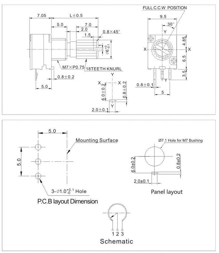9mm Alpha Potentiometer