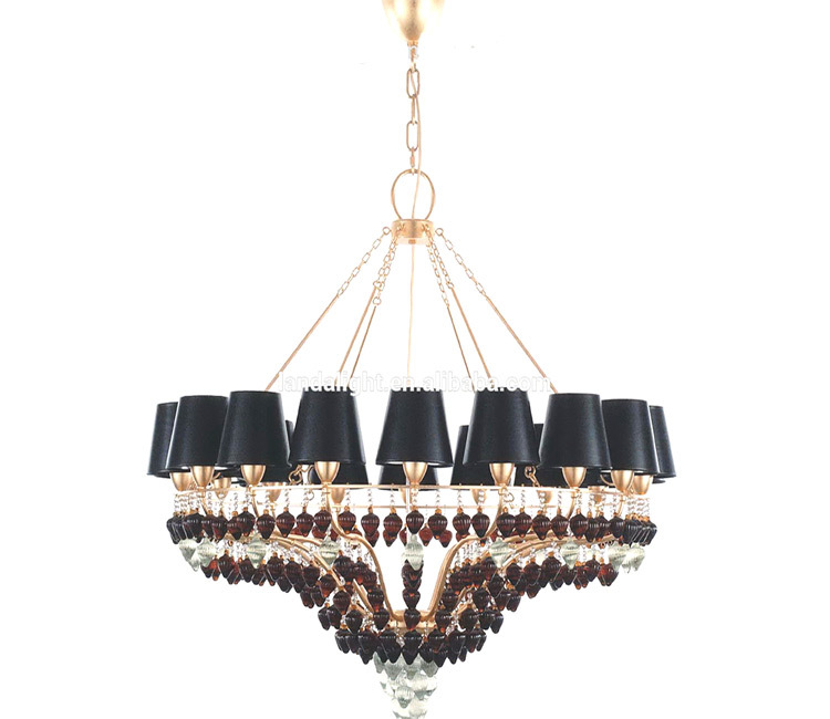 Modern black lighting black crystal chandelier for dinning room restaurant buy crystal - Unique crystal chandeliers ...