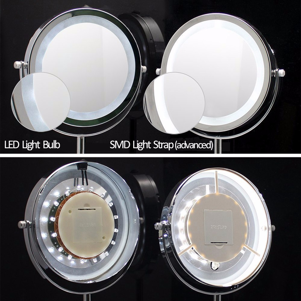 High Quality Table Makeup Led Standing Mirror 20x