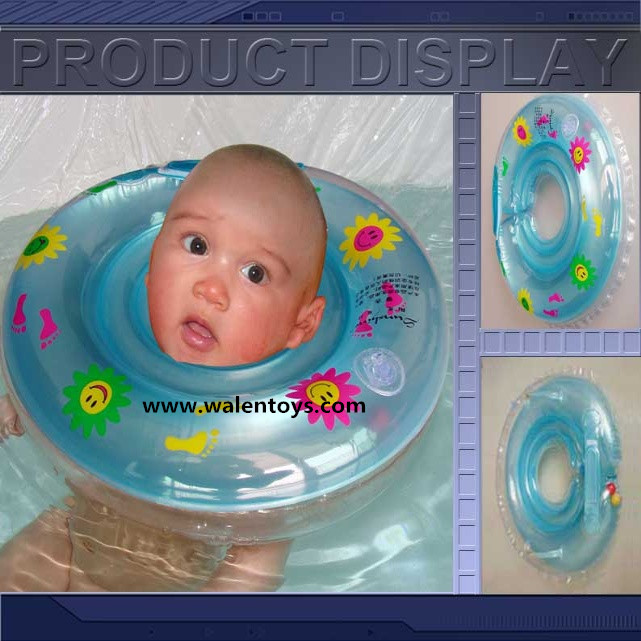 Baby Swimming Ring Neck Bath Float Ring Inflatable Tubes Security ...
