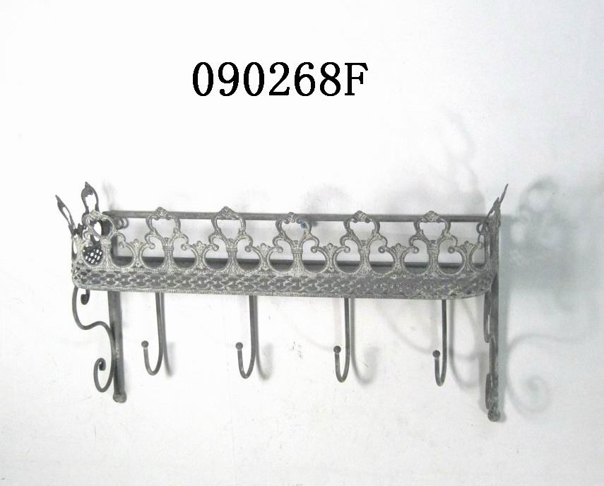 Decorative Metal Wall Shelves vintage decorative metal wall shelf with hooks - buy wall shelf