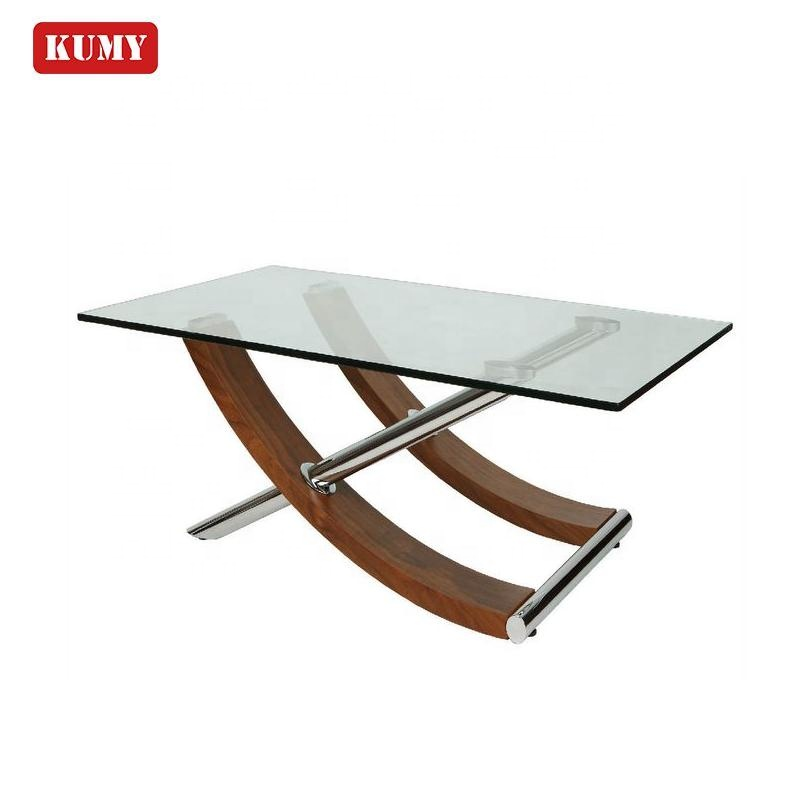 12mm Gehard Crystal Mirrored Glas Set Mesa de Comedor Salle Rvs Eettafel