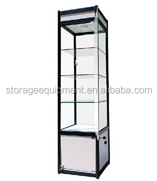 retail store toughened glass showcase on hot selling