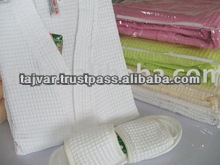 Cotton Waffle Bathrobes And Slippers