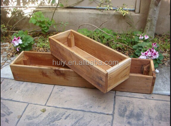 100 herb planter box wooden plant seeds box 3pcs indoor out