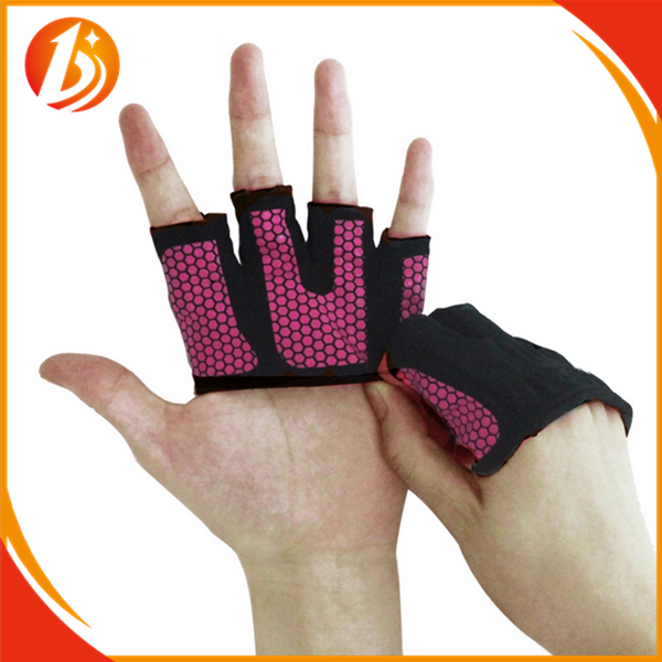 Silicon Grip Palm Half Finger Custom weight Lifting Workout Gloves for Body Building