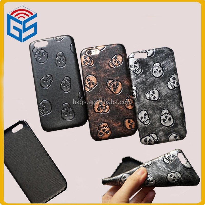Retro Thermoforming Ultra Thin Skull Leather Back Cover For Iphone 6S Korean Case For Iphone 6