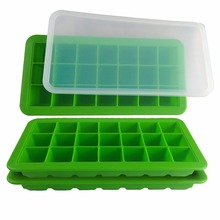 Wholesale Factory Price 21 Cavity FDA and LFGB Silicone ice cube tray Mold Maker with lid