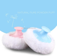 Wholesale Baby powder puff with handle Pure natural soft powder puff