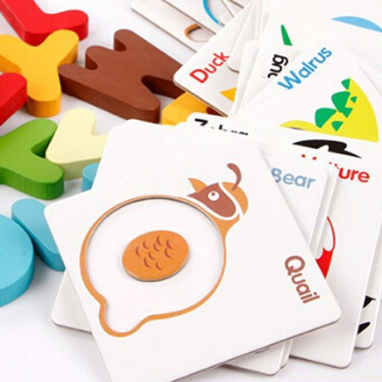 New design cute 2d magnetic english letter puzzle
