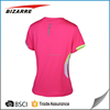 Womens 100% polyester dri fit running shirt with compression