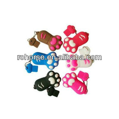 16GB Kitten's PAW Soft Silicon USB 2.0 Flash Pen Drive Memory Stick Water WeatherProof Shockproof