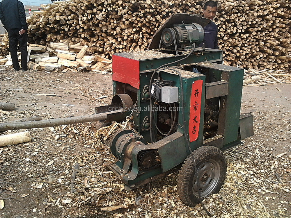 220mm tipo verticale mobile di legno log debarker