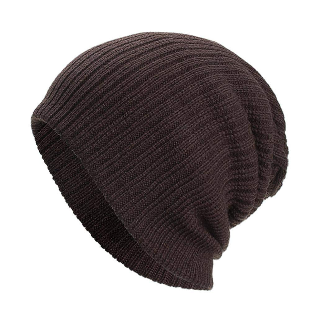 AutumnFall, Unisex Slouchy Beanie Hats Winter Warm Knit Skull Fleece Ski Cap 6 Color (Coffee)