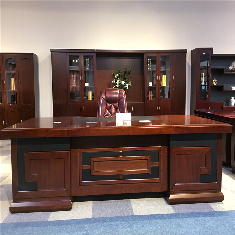 Wood Veneer L Shaped Office Table Executive CEO Office Desk Of Best Office Furniture Manufacturers