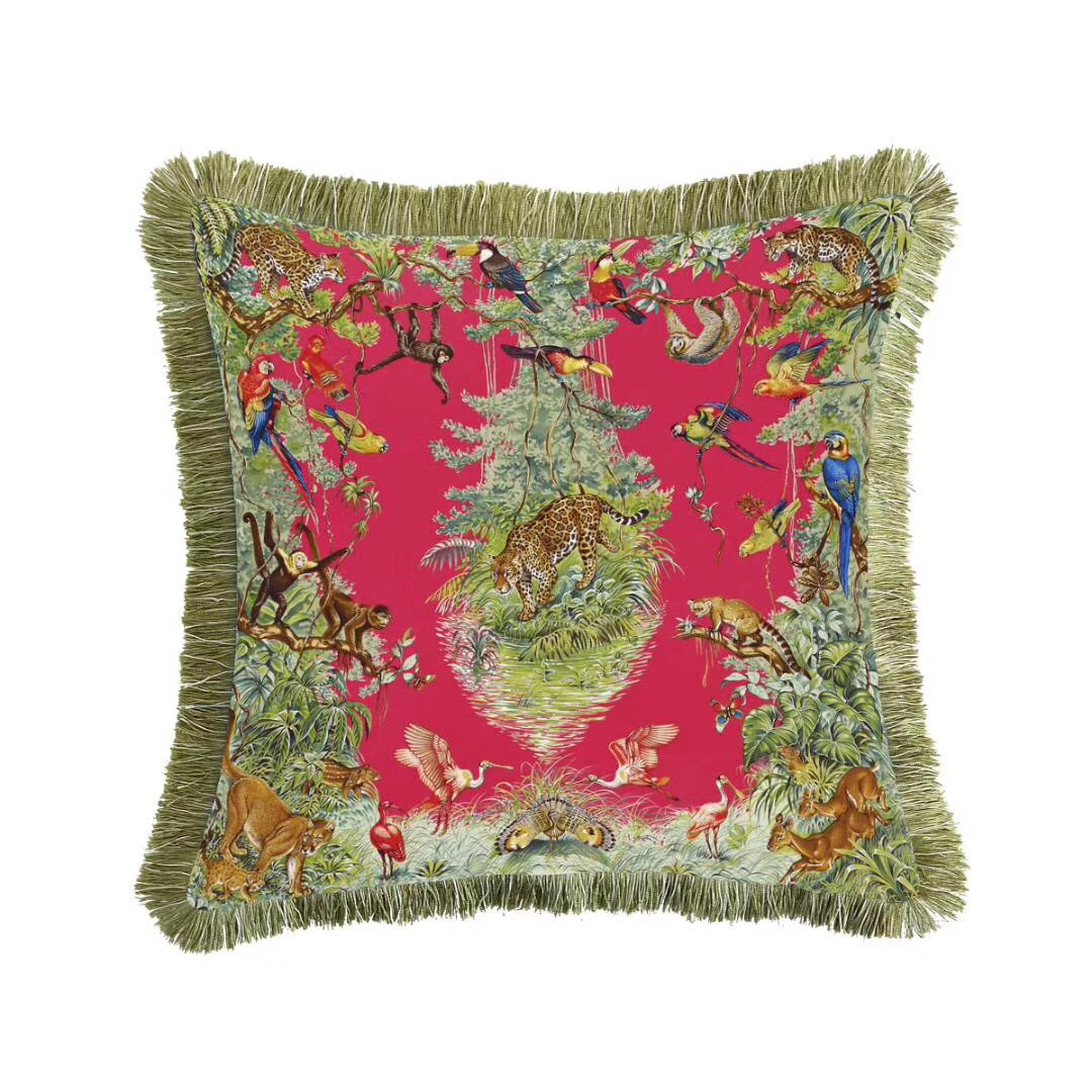 Workmanship 45*45cm Chinese Handmade Yellow Cat 100% Cotton Embroidered Cushion Cover Without Interior For Home Decoration Exquisite In