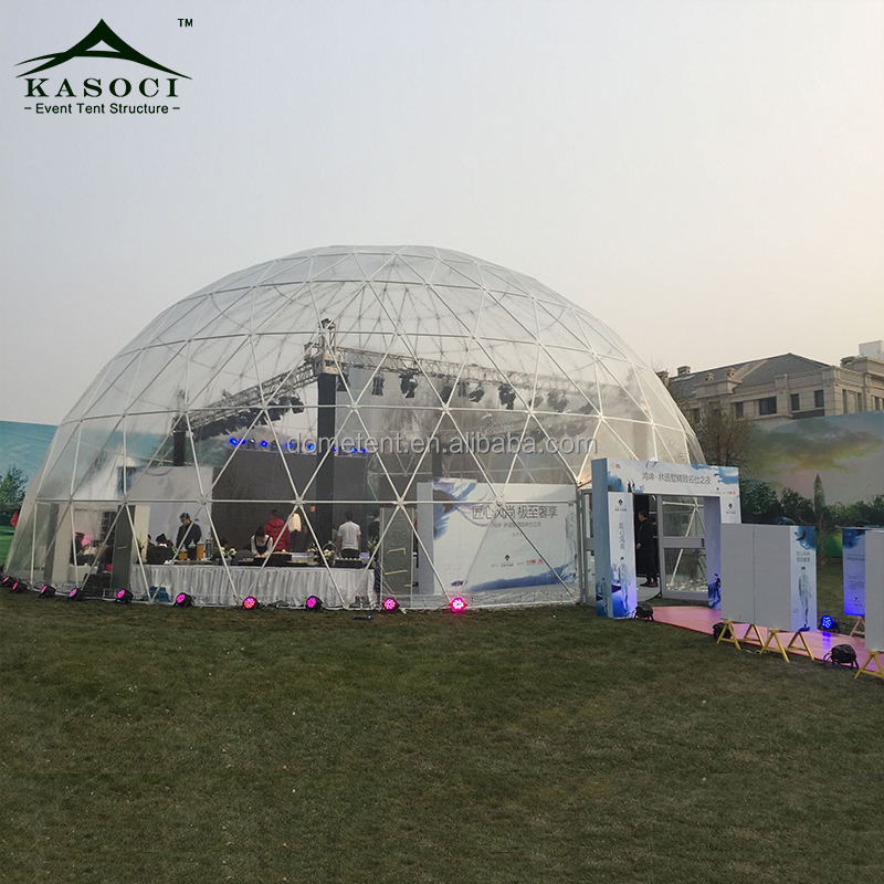 Direct Factory Supply 30-50M Professionally Made Removable Fram Marquee Dome Shaped Tents