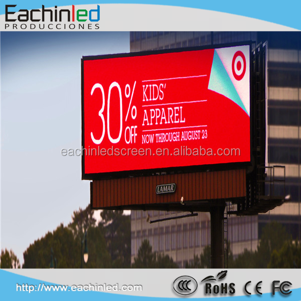Large led tv advertising screen white lamp P5 outdoor led display screen