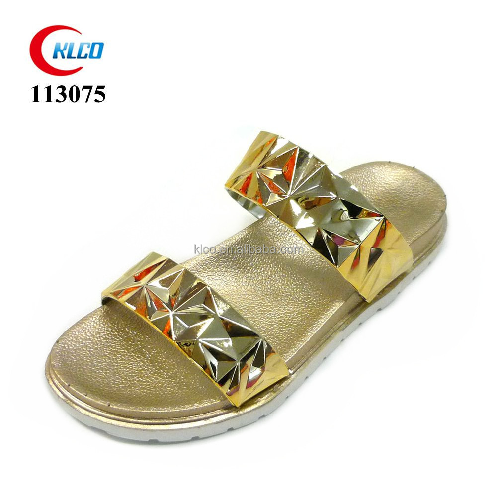new fashion sexy women gender wedding shoes gold pvc sandal